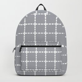 Dotted Grid Grey Backpack