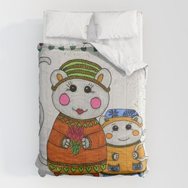 Mama & Baby Mouse Comforters