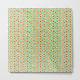 Floral Tile Pattern Metal Print