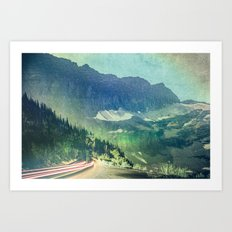 Mountains and Forest - Wanderlust Art Print
