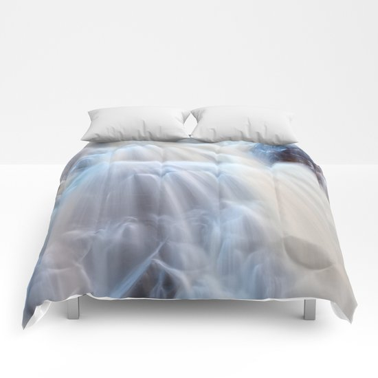Chutes du Diable Waterfall Comforters