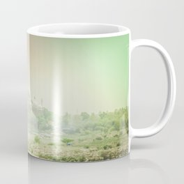 Colors of Dreamy Taj Mahal in the Morning Mist Behind the Yamuna River Coffee Mug