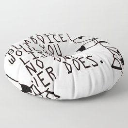 Marvin The Hitchhiker's Guide to the Galaxy Floor Pillow