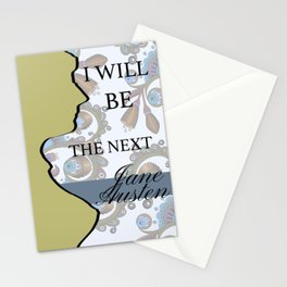 I will be the next Jane Austen (Yellow) Stationery Cards