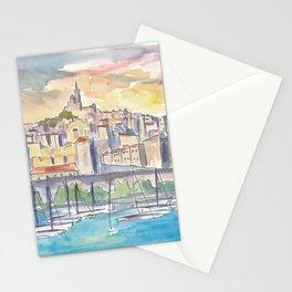 Mediterranean Marseille France Harbour Stationery Cards