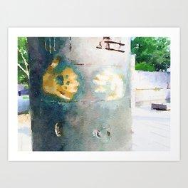 FDR Memorial Handprints Art Print