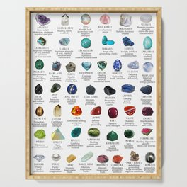 crystals gemstones identification Serving Tray