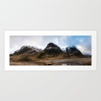 The Three Sisters of Glencoe Art Print