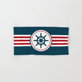Sailing wheel 2 Hand & Bath Towel