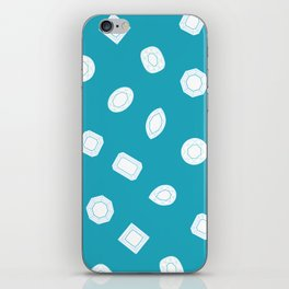 Blue Moissy Gem Pattern iPhone Skin