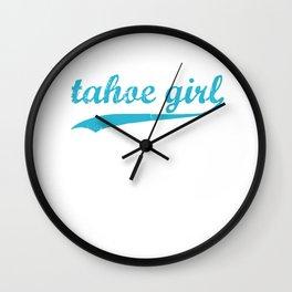Team Tahoe Blue Wall Clock