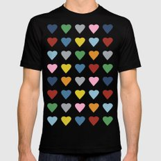 64 Hearts X-LARGE Black Mens Fitted Tee