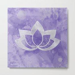 Lotus Flower on Purple Metal Print