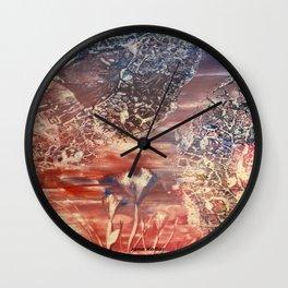Desert Rose Encaustic Wall Clock