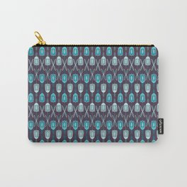 Purple Floral Carry-All Pouch