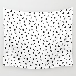 Pips - black, white Wall Tapestry