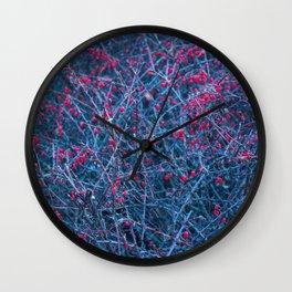 Frozen berries Wall Clock
