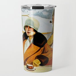 Vintage Wengen Switzerland Travel Travel Mug