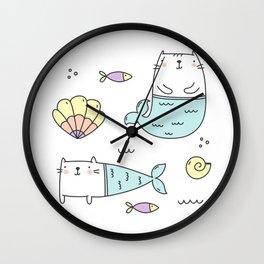 Ocean Merkitties Wall Clock