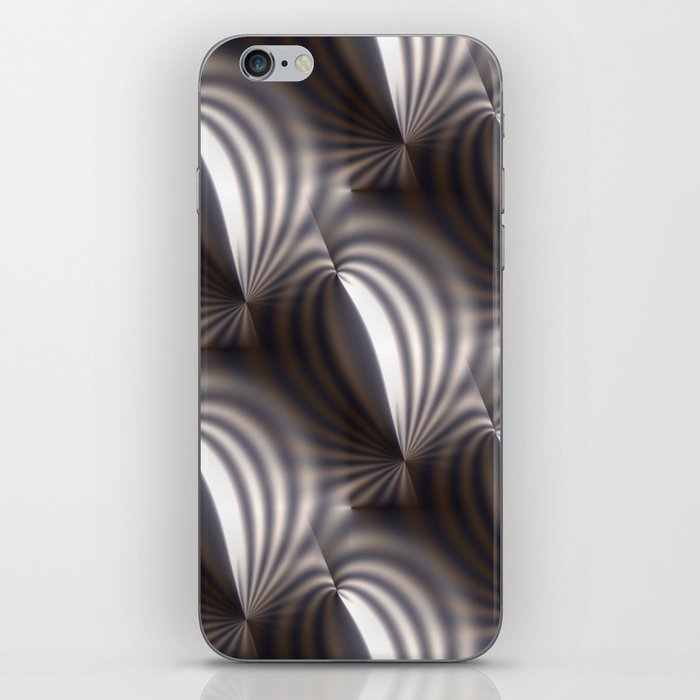 Push and squeeze with misty stripes iPhone Skin