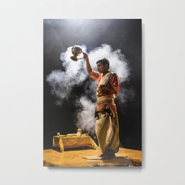 Ganga Puja Metal Print
