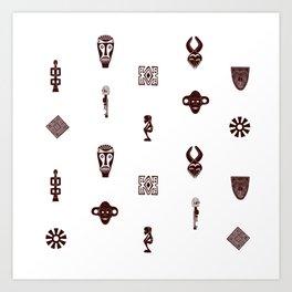 African Spirit   Pattern Art Art Print