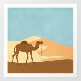 C is for Camel Art Print