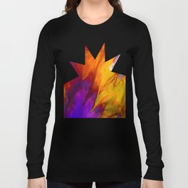 Fluid Abstract 37; The Fire Rages On Long Sleeve T-shirt