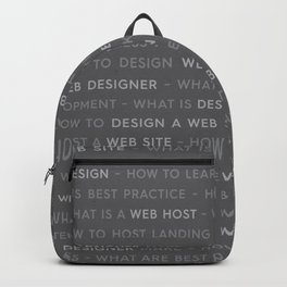 Grey Web Design Keywords Backpack
