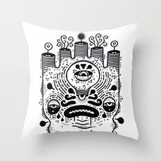 le sad boii Throw Pillow