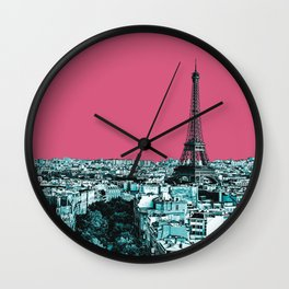 Paris Delineated Wall Clock