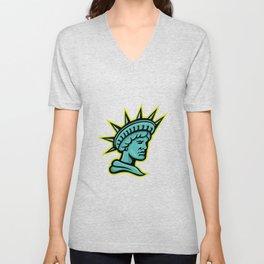 Lady Liberty or Libertas Mascot Unisex V-Neck