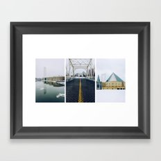 Ottawa Triptych Framed Art Print