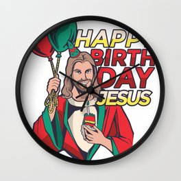 Happy Birth Day Jesus Wall Clock