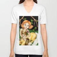 sagittarius V-neck T-shirts featuring Sagittarius by Paula Ellenberger