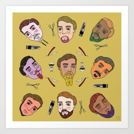 Beard Science. Art Print