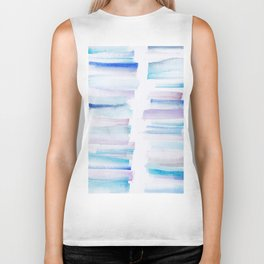 11 | 181101 Watercolour Palette Abstract Art | Lines | Stripes | Biker Tank