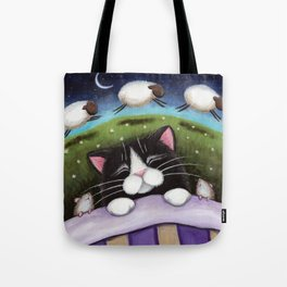 Cat - Sheep Dreams Tote Bag
