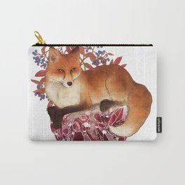 Red Fox and Ruby Carry-All Pouch