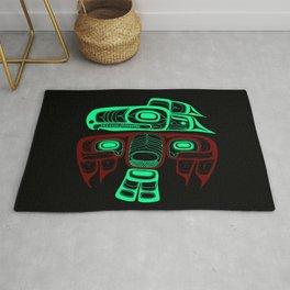 Native American style Tlingit Thunderbird Rug