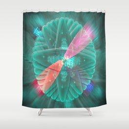 Spinning Lights Shower Curtain