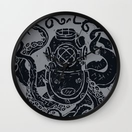 Mark V Octopus - grey Wall Clock
