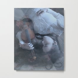 Softly Metal Print