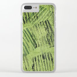 Green lines Clear iPhone Case