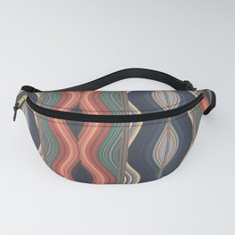 Colored waves Fanny Pack