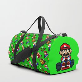 Super Mar!o Kart heroes | greengrass || retrogaming pattern Duffle Bag