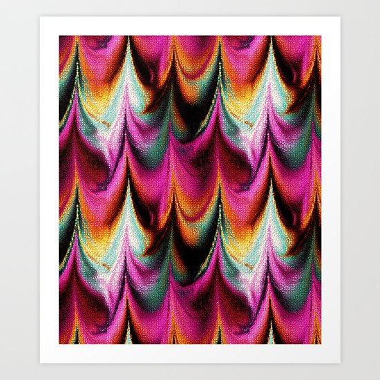 Abstract Feather organic pattern Art Print