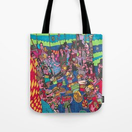 Dinner Time with Friends Tote Bag
