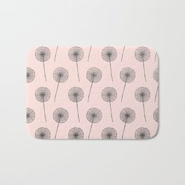 Contemporary X Paint Flower Dandelion Pattern Bath Mat