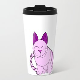 Childishly drawn cat in color Travel Mug